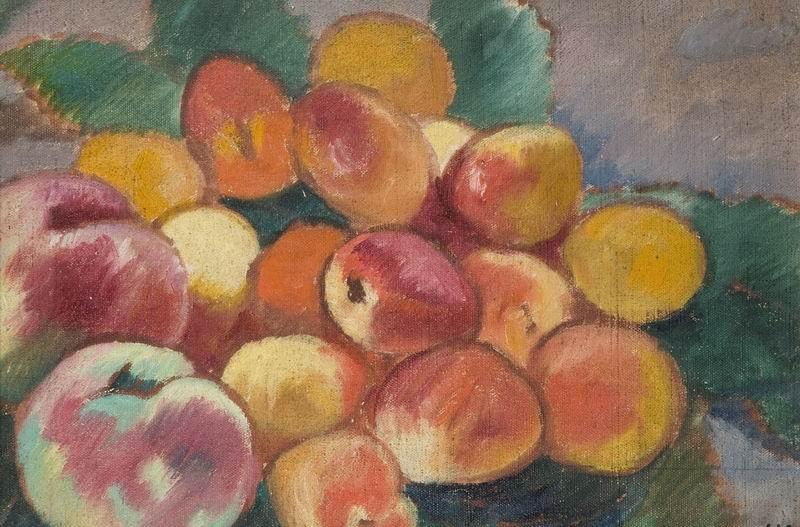 """Художники, картина """"Яблоки и персики"""", 30x20 см, на бумаге от Artwall"""