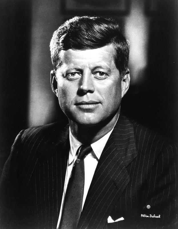 """Постер Фото-постеры """"Портрет Джона Кеннеди 3"""", 20x26 см, на бумаге от Artwall"""