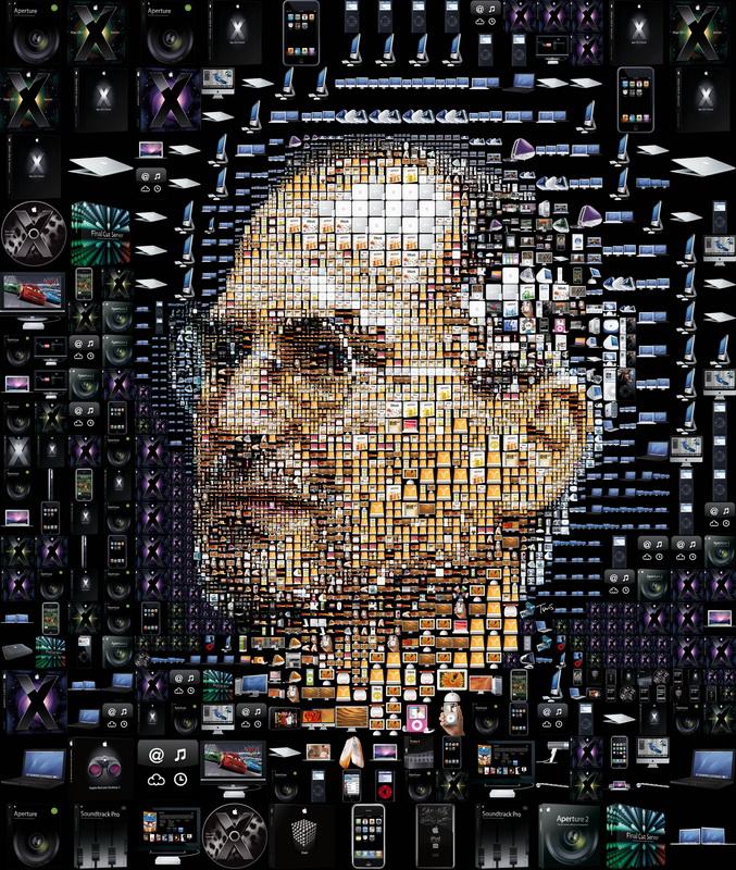 """Постер Фото-постеры """"Портрет Стива Джобса 3"""", 20x24 см, на бумаге от Artwall"""