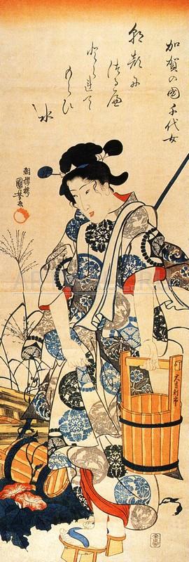 """Японская гравюра Японские гравюры, """"Гравюра 28180"""", 20x59 см, на бумаге от Artwall"""