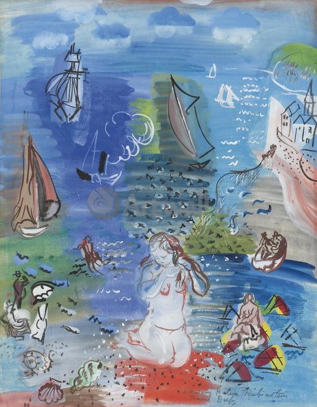 """Художники, картина """"Амфитрита"""", 20x26 см, на бумаге от Artwall"""