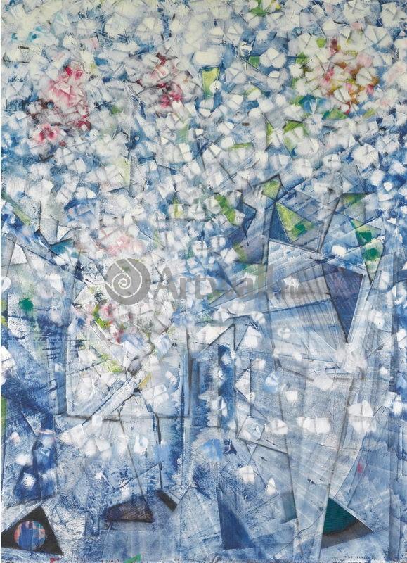 "Художники, картина ""Девушки собираются на охоту на белую бабочку"", 20x28 см, на бумаге от Artwall"