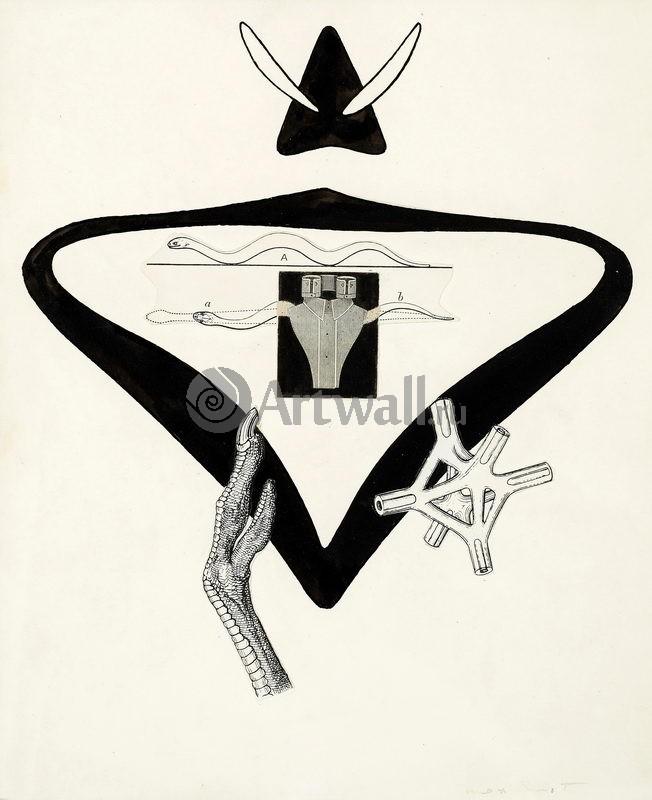 """Художники, картина """"Иллюстрация к Галантному барану Б.Пере"""", 20x25 см, на бумаге от Artwall"""