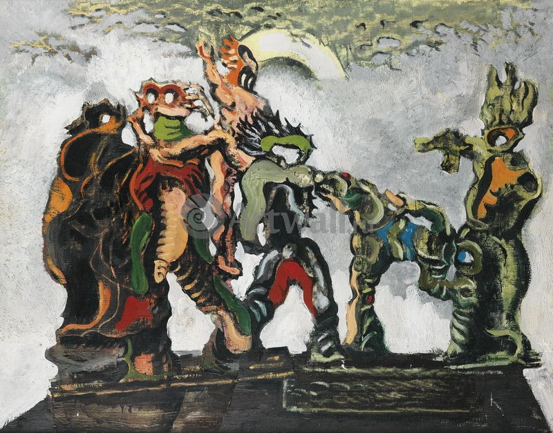 """Художники, картина """"Карманьола"""", 26x20 см, на бумаге от Artwall"""