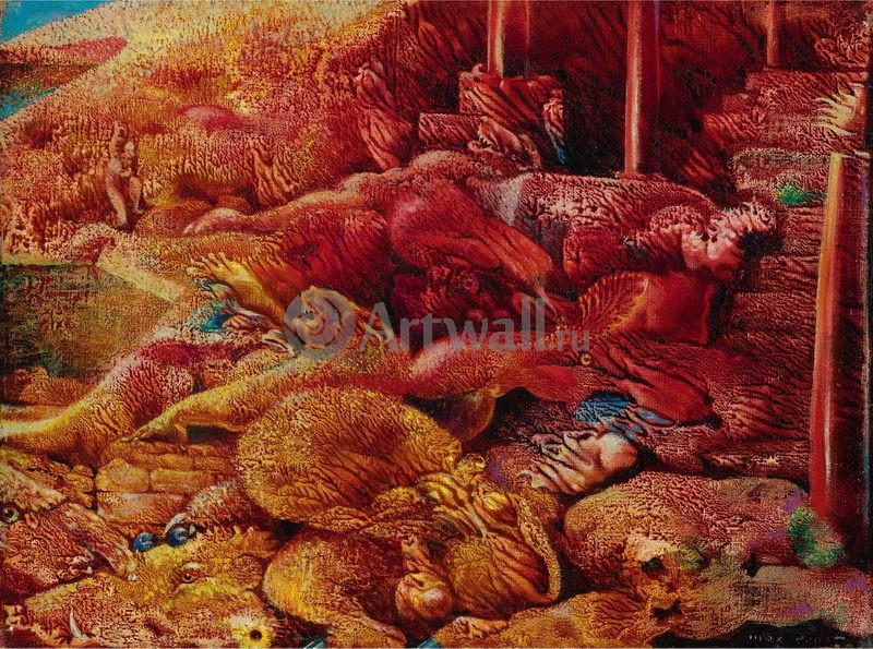"""Художники, картина """"Комедия жажды"""", 27x20 см, на бумаге от Artwall"""