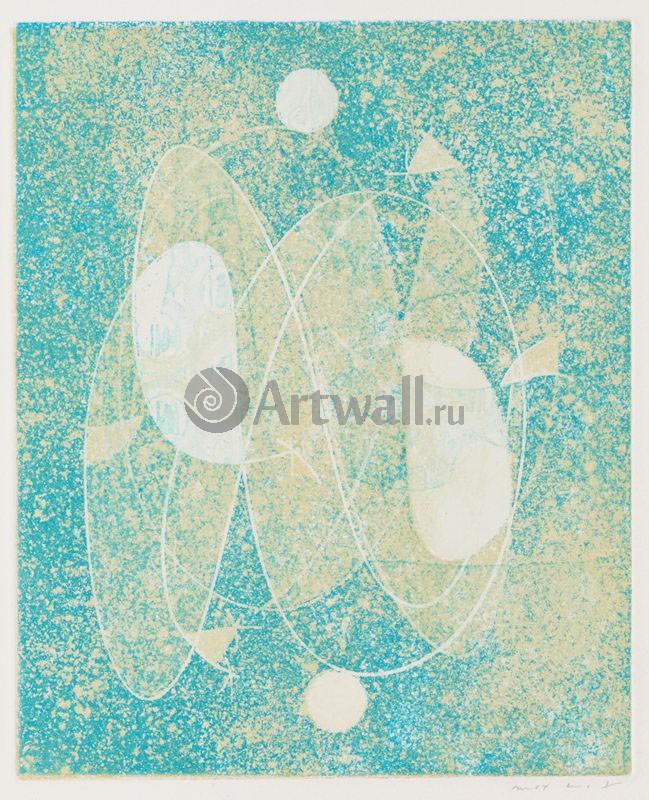 """Художники, картина """"Композиция"""", 20x25 см, на бумаге от Artwall"""