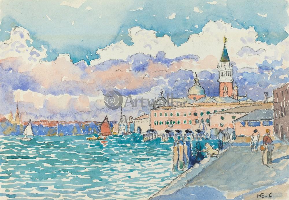 """Художники, картина """"Венеция"""", 29x20 см, на бумаге от Artwall"""