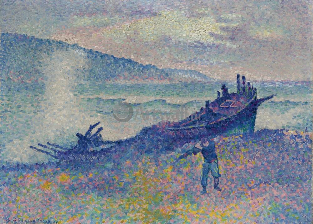 "Художники, картина ""Обломки кораблекрушения"", 28x20 см, на бумаге от Artwall"