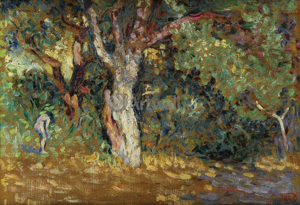 """Художники, картина """"Обнаженная в лесу"""", 29x20 см, на бумаге от Artwall"""