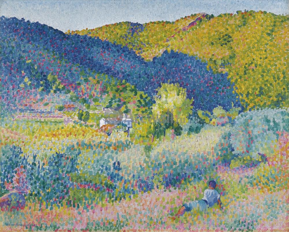 """Художники, картина """"Пейзаж в Мауре"""", 25x20 см, на бумаге от Artwall"""