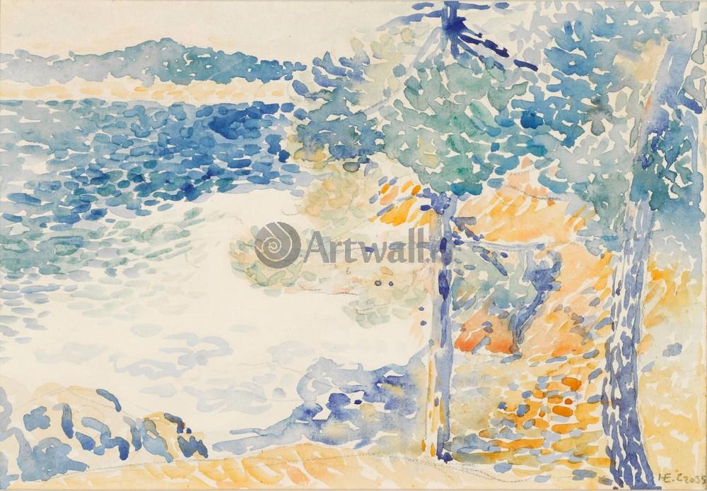 """Художники, картина """"Пейзаж в Сент Клэре"""", 29x20 см, на бумаге от Artwall"""