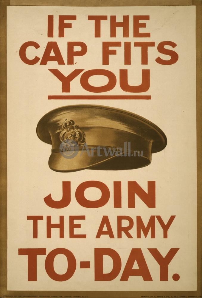 """Плакат Плакат 20 века """"Если каска подходит Вам, в армию сегодня"""", 20x29 см, на бумаге от Artwall"""
