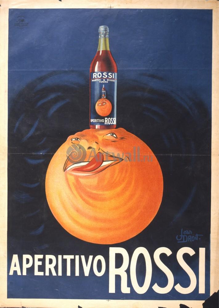 """Плакат Плакат 20 века """"Aperitivo Rossi"""", 20x28 см, на бумаге от Artwall"""