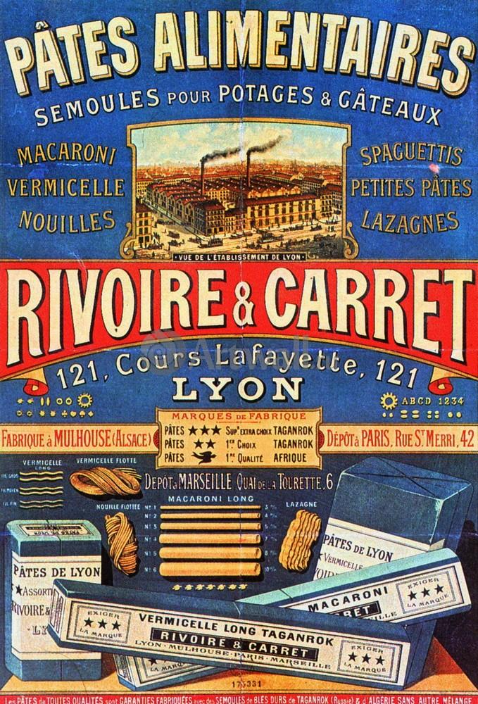 "Плакат Плакат 20 века ""Pates Alimentaires, Rivoire & Carret"", 20x29 см, на бумаге от Artwall"
