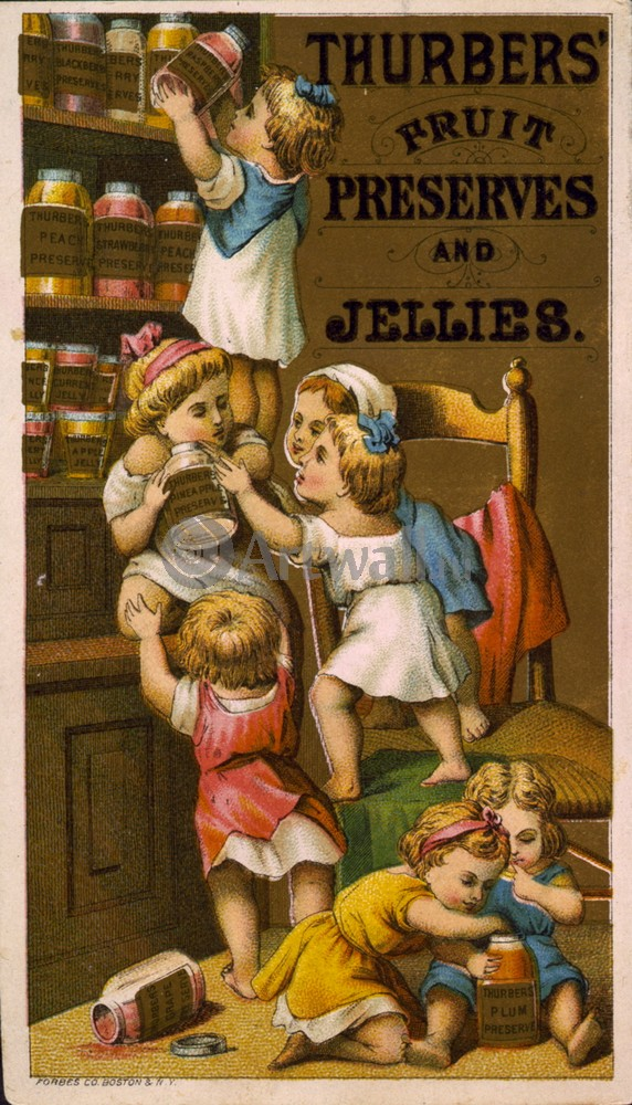 "Плакат Плакат 20 века ""Thurbers 'Фруктовое варенье и желе"", 20x35 см, на бумаге от Artwall"