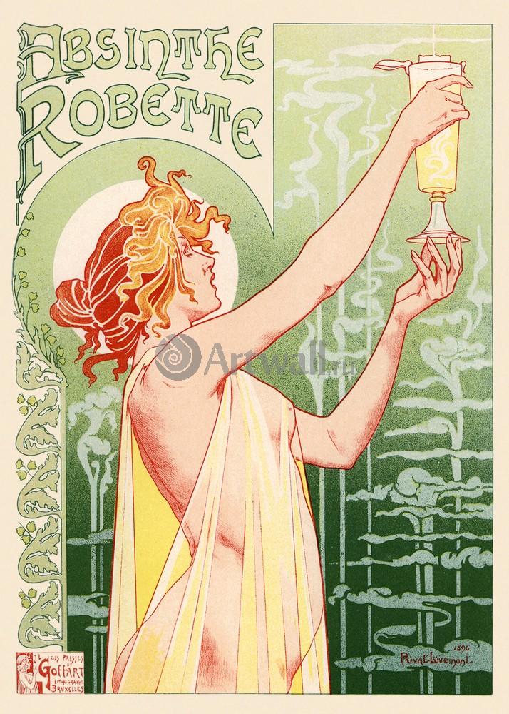 "Плакат Плакат 20 века ""Абсент Robette"", 20x28 см, на бумаге от Artwall"