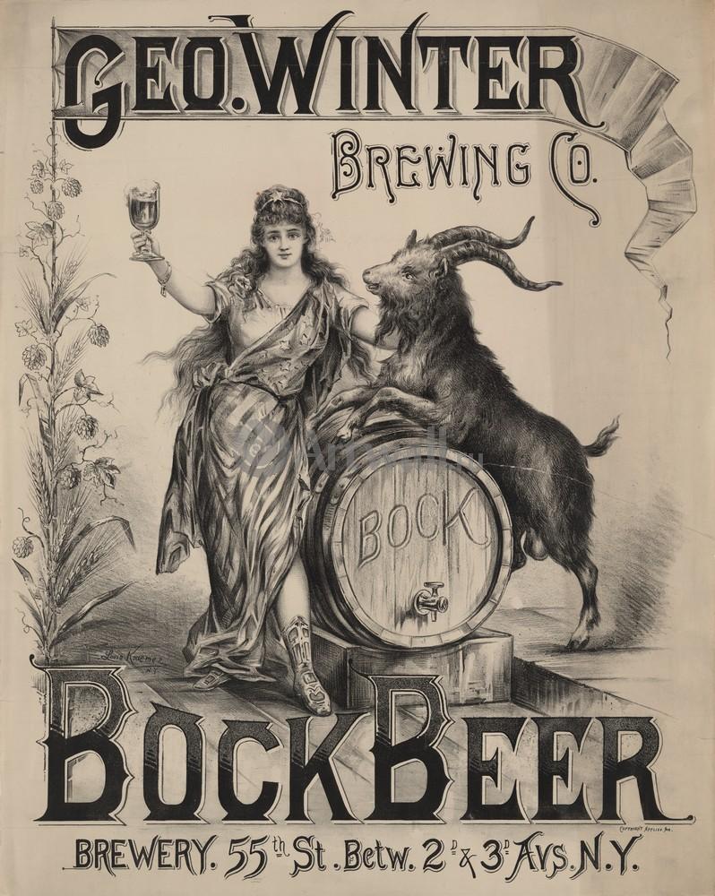 "Плакат Плакат 20 века ""Гео. Зима, Пивоваренная компания, Бок пива"", 20x25 см, на бумаге от Artwall"