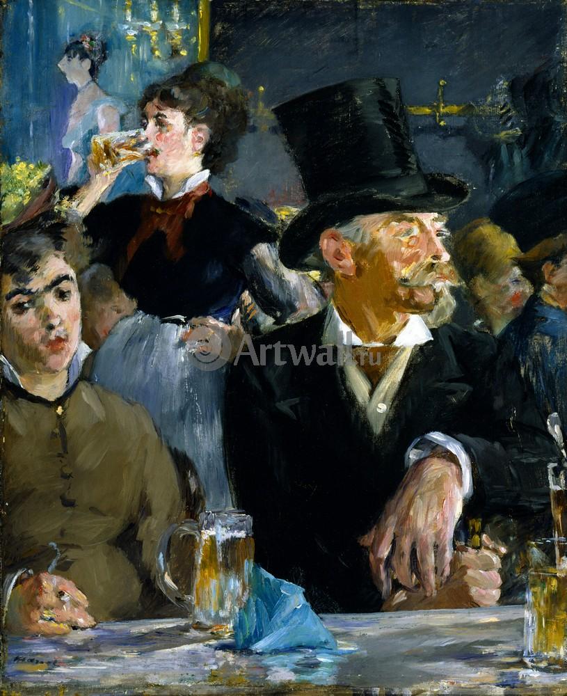 """Художники, картина """"В кафе"""", 20x25 см, на бумаге от Artwall"""