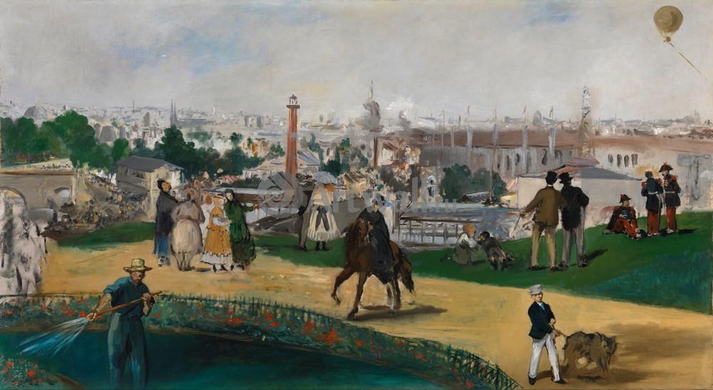 """Художники, картина """"Всемирная выставка в Париже в 1867г"""", 37x20 см, на бумаге от Artwall"""