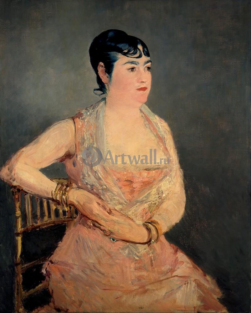 """Художники, картина """"Дама в розовом"""", 20x25 см, на бумаге от Artwall"""