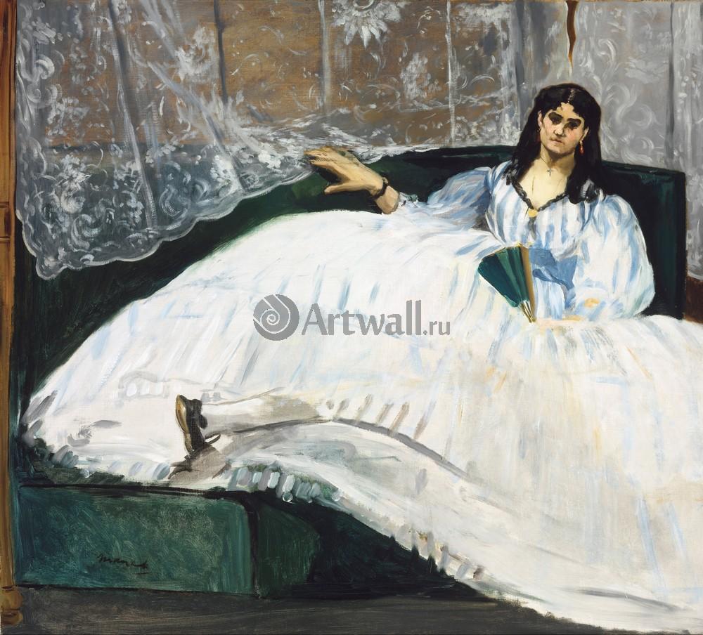 """Художники, картина """"Женщина с веером"""", 22x20 см, на бумаге от Artwall"""