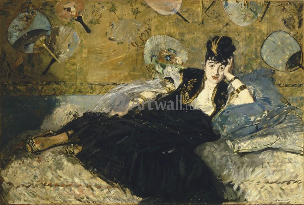 """Художники, картина """"Женщина с веером"""", 30x20 см, на бумаге от Artwall"""
