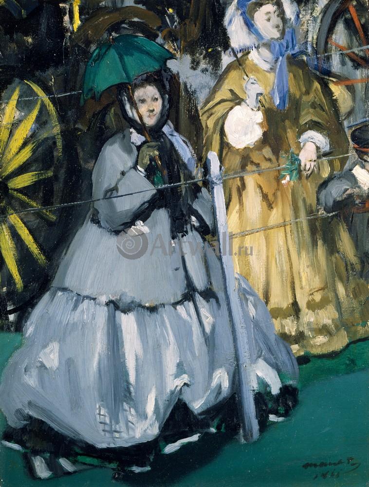 """Художники, картина """"Женщины на скачках"""", 20x26 см, на бумаге от Artwall"""