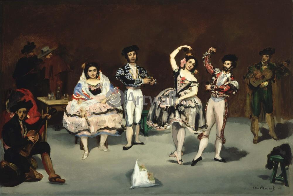 """Художники, картина """"Испанский танец"""", 30x20 см, на бумаге от Artwall"""