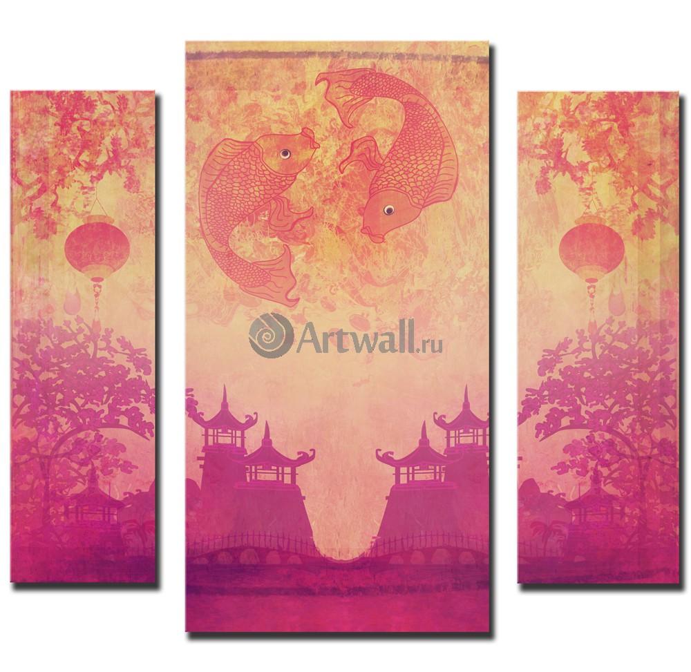 Модульная картина «Из Китая», 51x50 см, модульная картина от Artwall