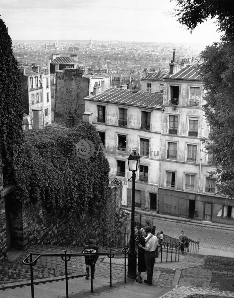 """Фотограф Фотографы, """"Монмартр, Париж. День взятия Бастилии, 1950"""", 20x25 см, на бумаге от Artwall"""