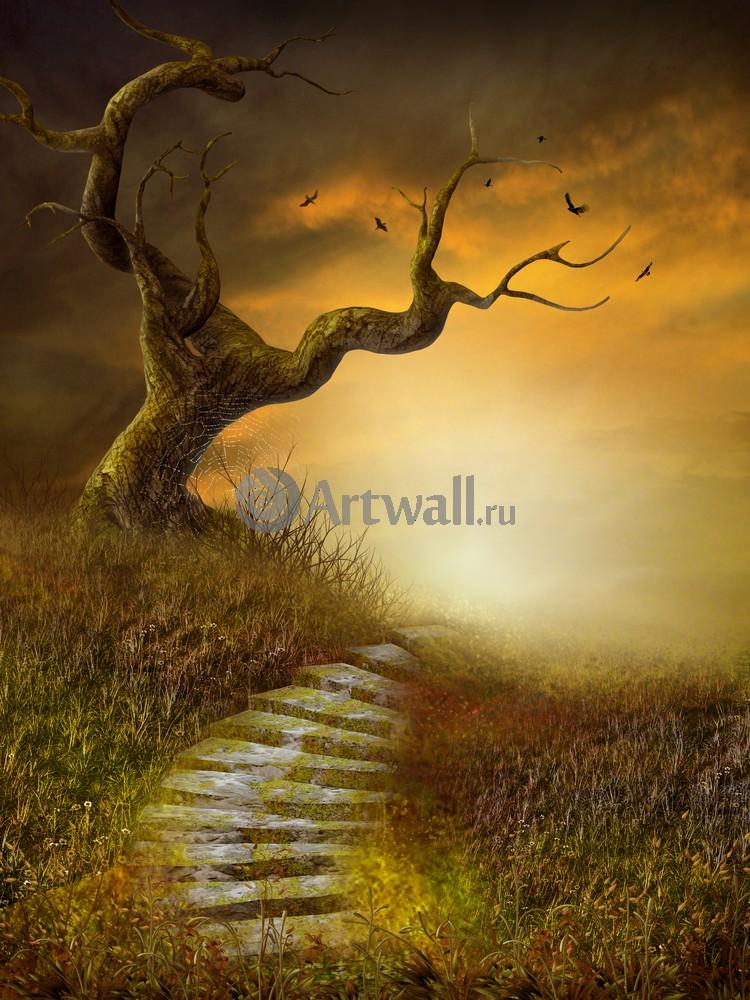 """Искусство, картина """"Фэнтези картина 41239"""", 20x27 см, на бумаге от Artwall"""