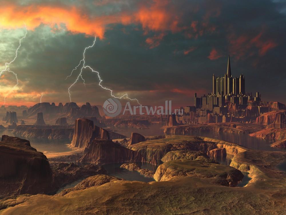 """Искусство, картина """"Фэнтези картина 41242"""", 27x20 см, на бумаге от Artwall"""
