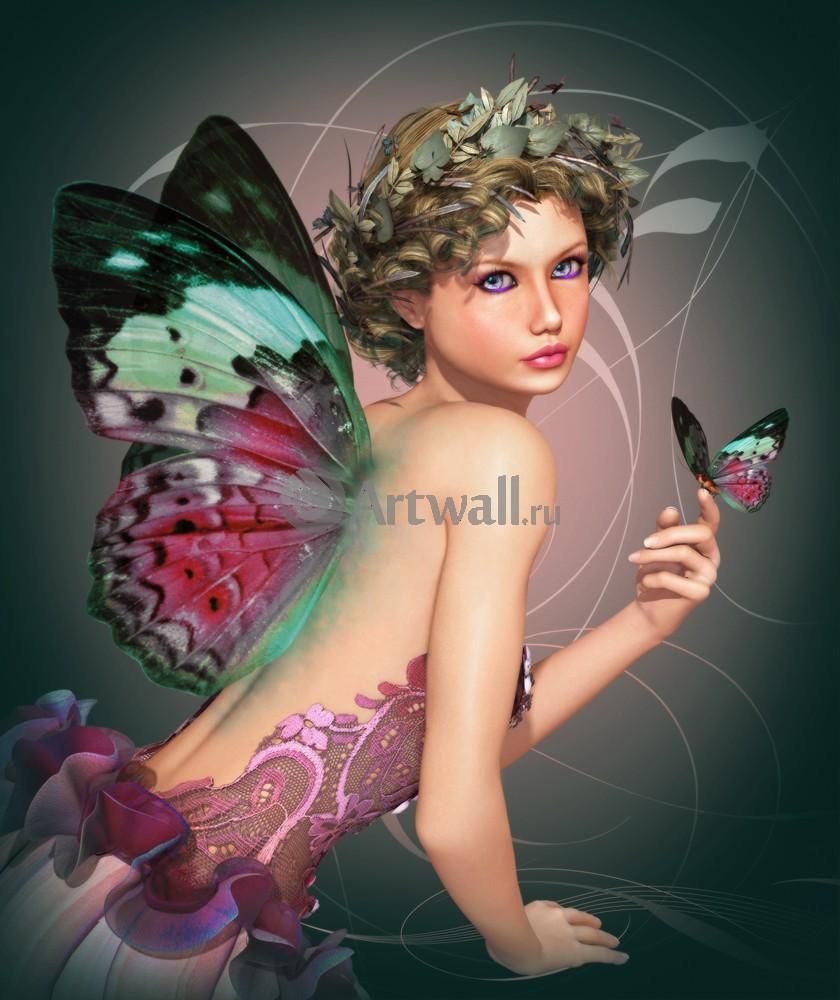 """Искусство, картина """"Фэнтези картина 41246"""", 20x24 см, на бумаге от Artwall"""