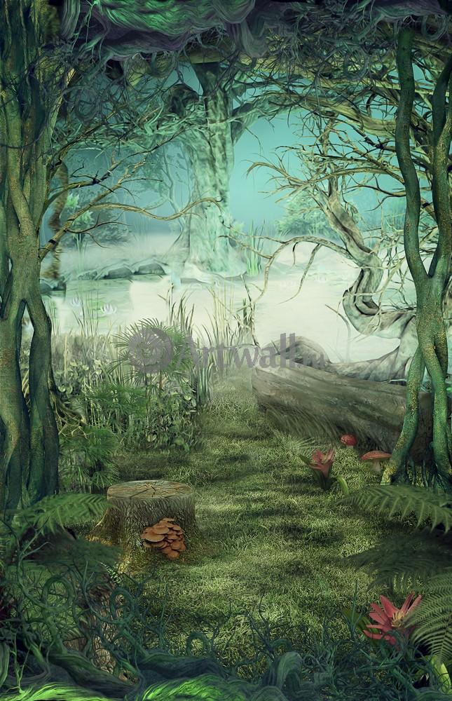 """Искусство, картина """"Фэнтези картина 41251"""", 20x31 см, на бумаге от Artwall"""