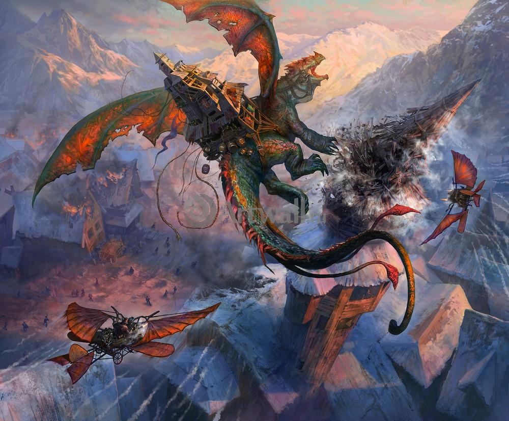 """Искусство, картина """"Фэнтези картина 41253"""", 24x20 см, на бумаге от Artwall"""