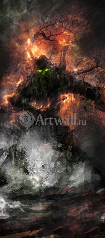 """Искусство, картина """"Фэнтези картина 41256"""", 20x45 см, на бумаге от Artwall"""