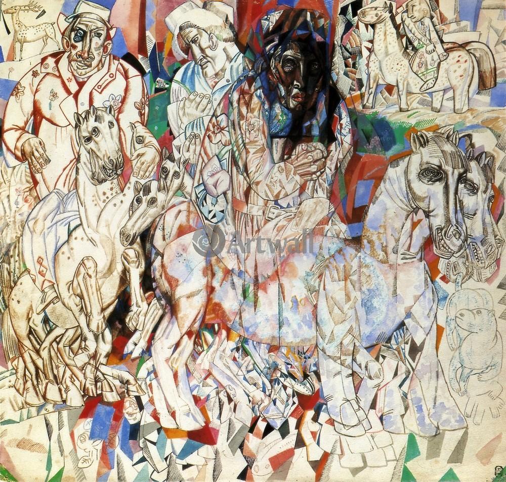 """Художники, картина """"Волхвы"""", 21x20 см, на бумаге от Artwall"""