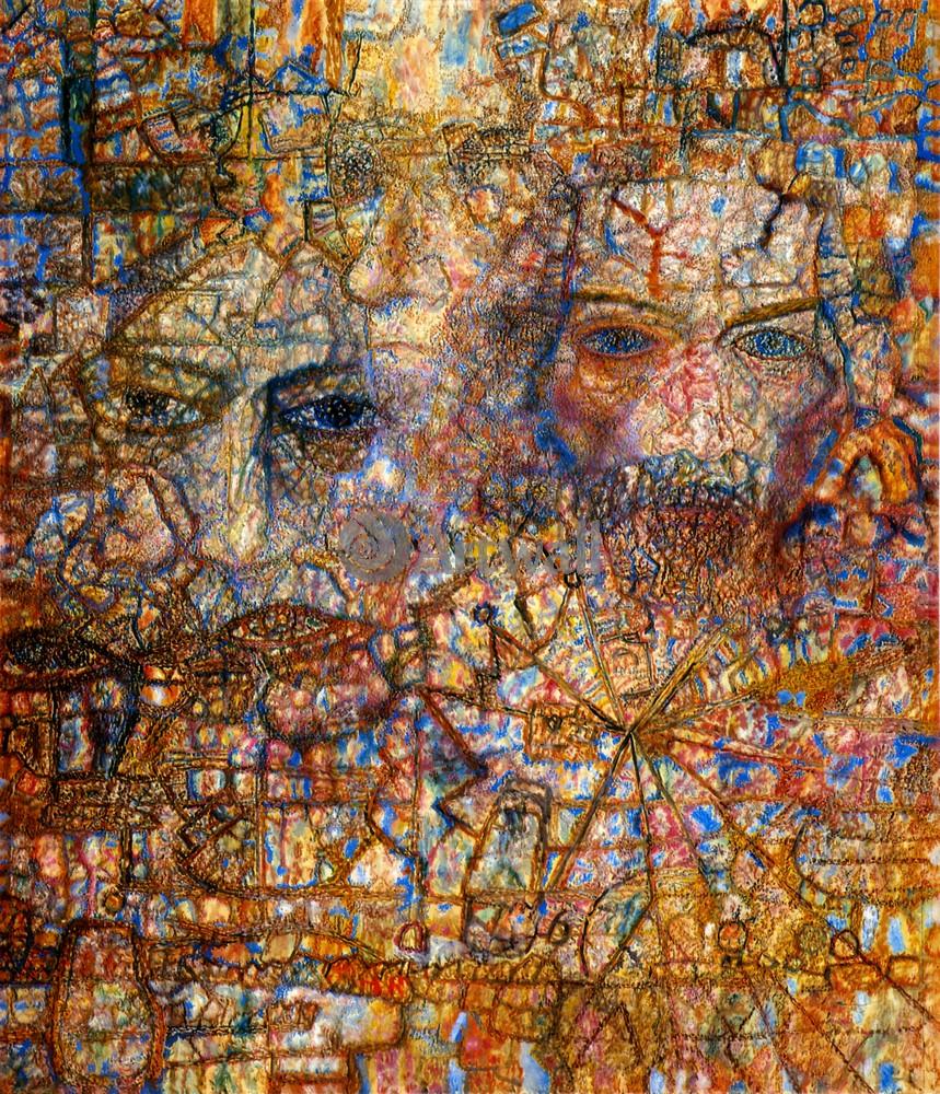 """Художники, картина """"Лики"""", 20x23 см, на бумаге от Artwall"""