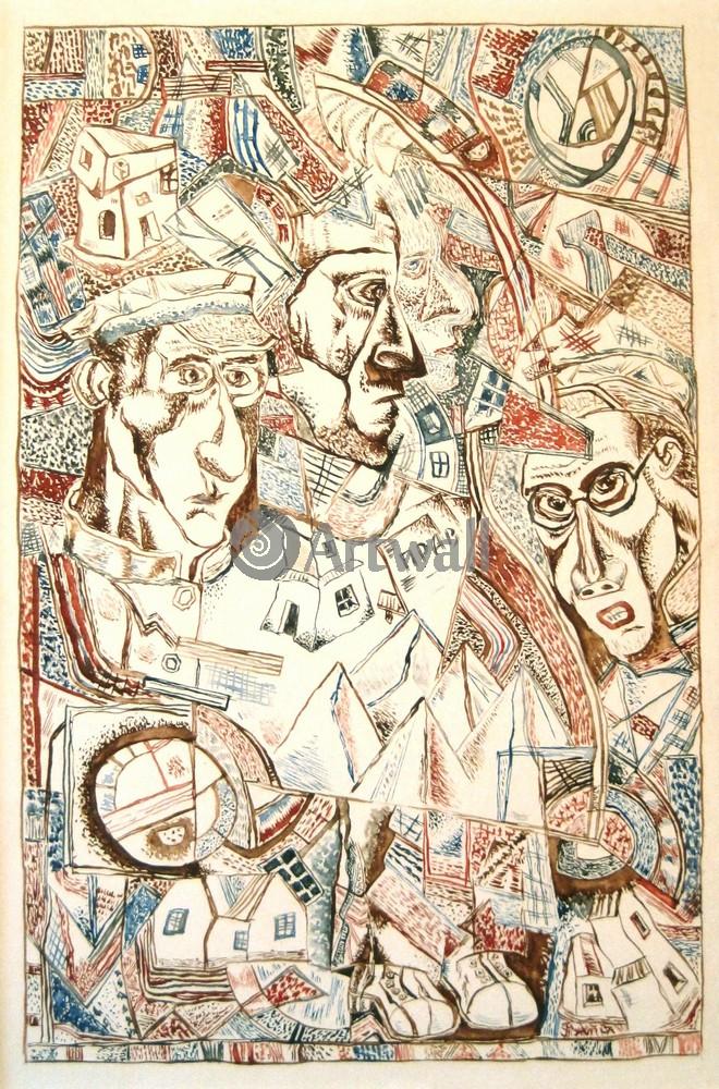 """Художники, картина """"Уновис"""", 20x30 см, на бумаге от Artwall"""