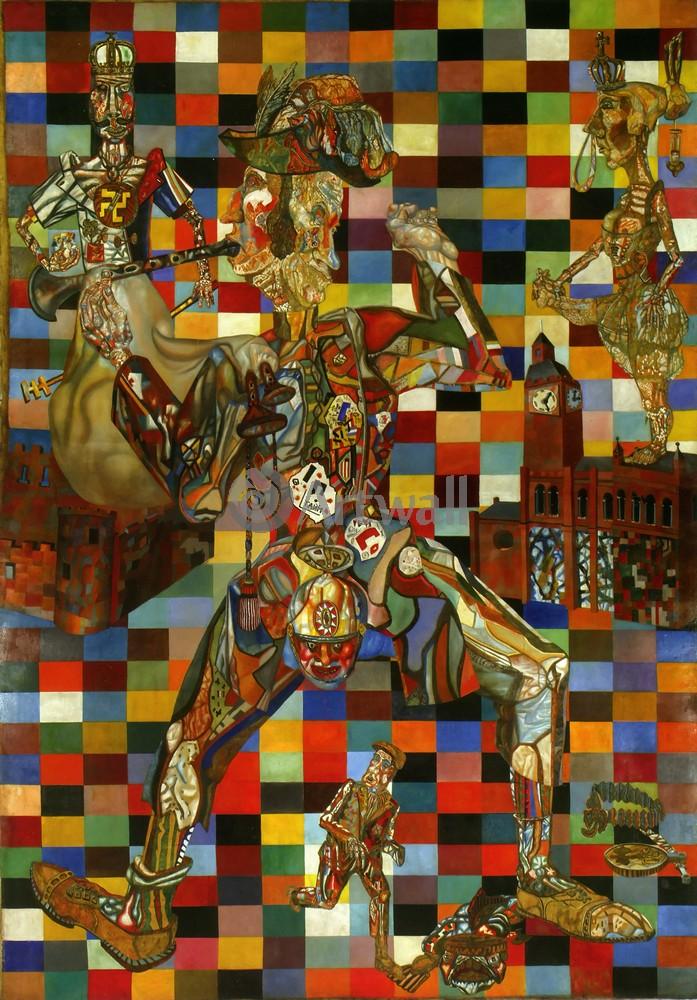 """Художники, картина """"Школа Филонова - Гурвич, Мой дом - моя крепость"""", 20x29 см, на бумаге от Artwall"""