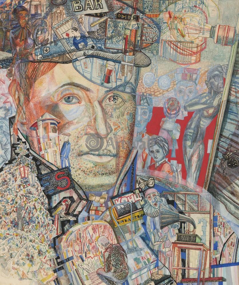 """Художники, картина """"Школа Филонова"""", 20x24 см, на бумаге от Artwall"""