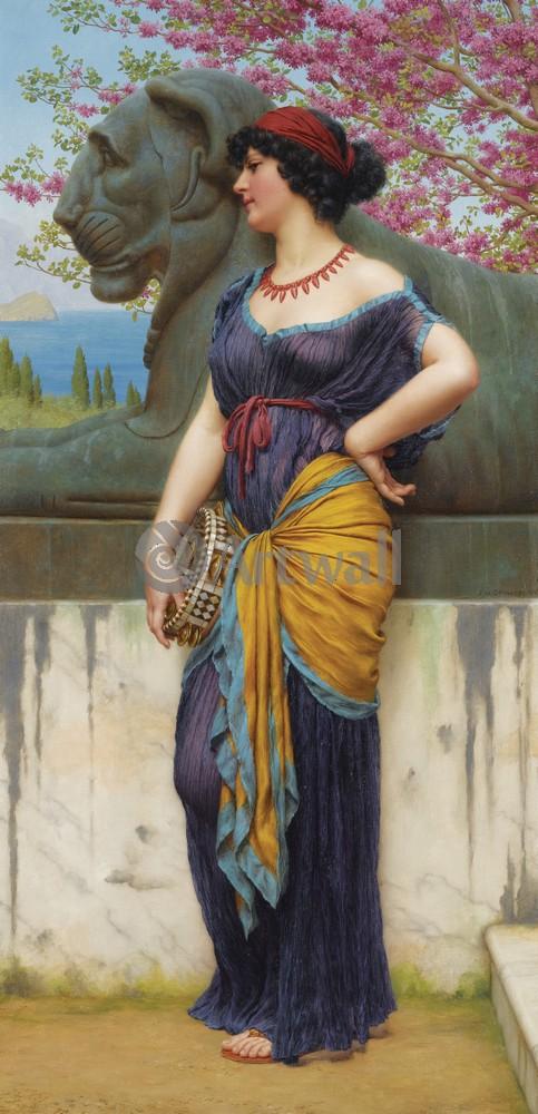 "Художники, картина ""В роще храма Изиды"", 20x41 см, на бумаге от Artwall"