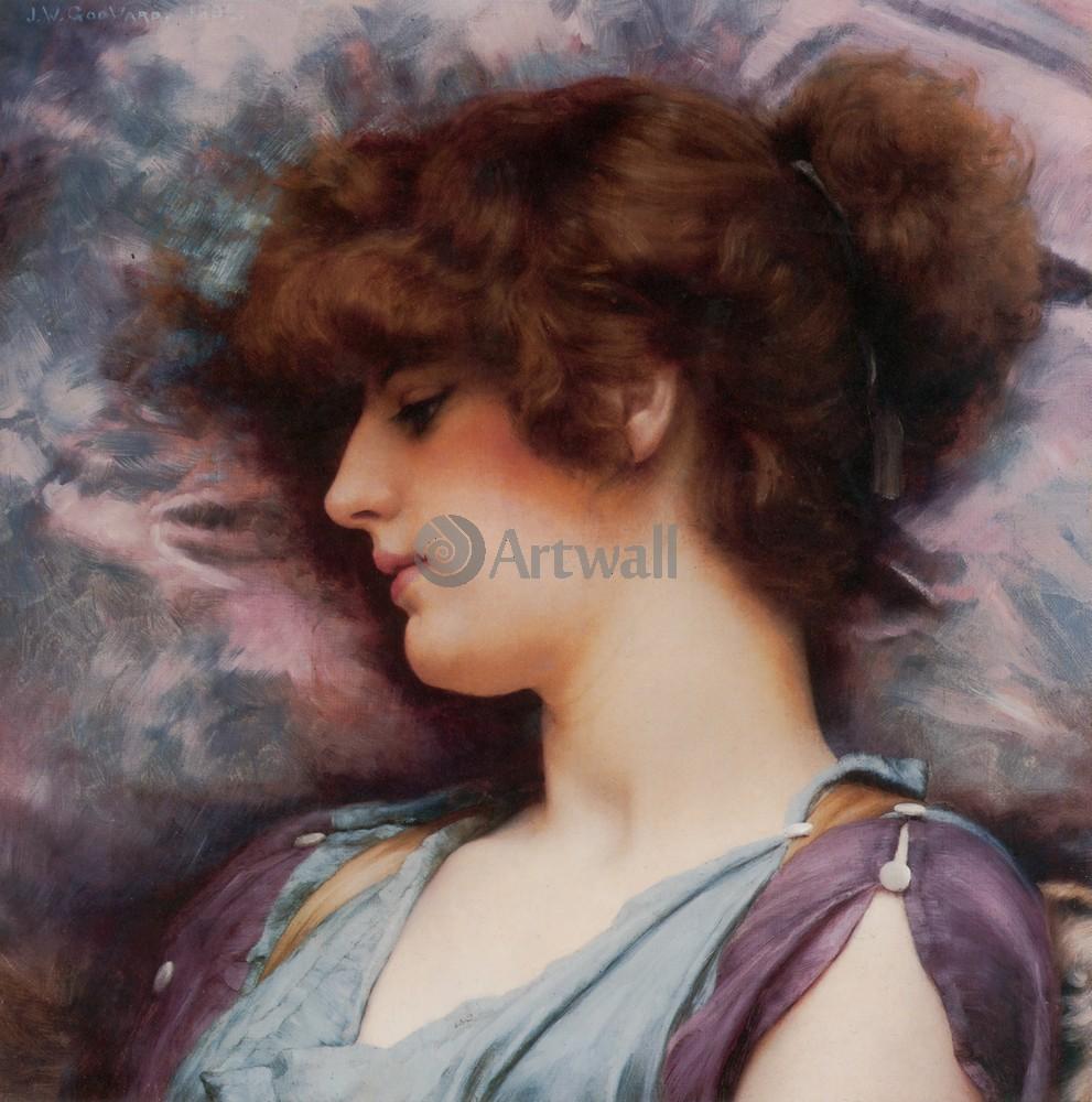 """Художники, картина """"Глубокое размышление"""", 20x20 см, на бумаге от Artwall"""