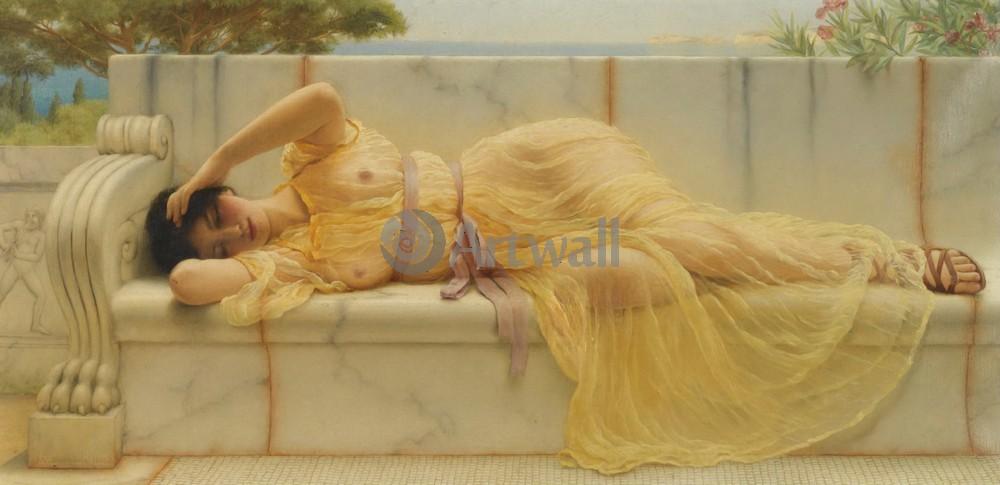 """Художники, картина """"Девушка в желтом платье"""", 41x20 см, на бумаге от Artwall"""