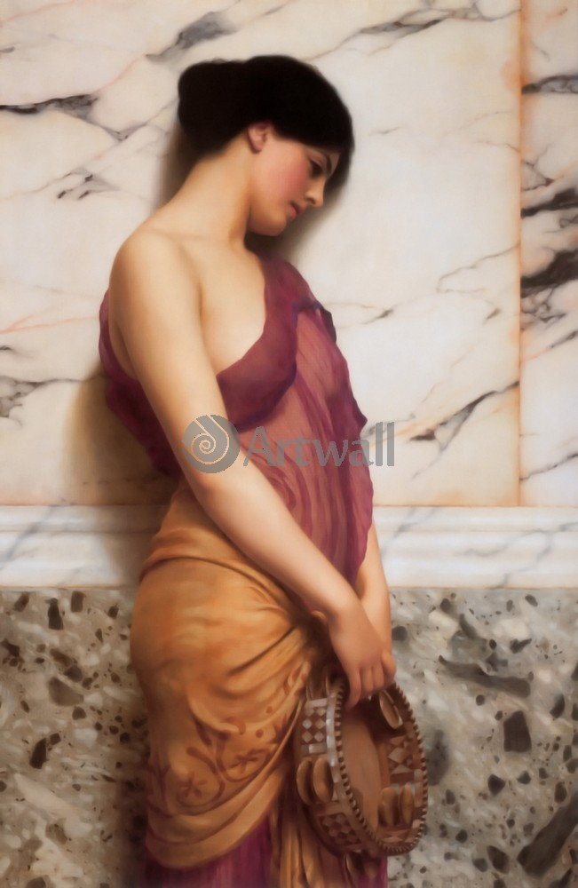 "Художники, картина ""Девушка с тамбурином"", 20x31 см, на бумаге от Artwall"