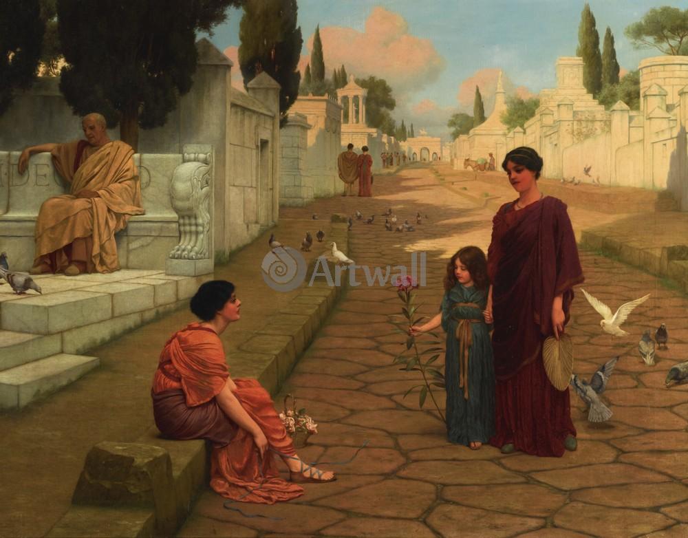 """Художники, картина """"За воротами Помпеи"""", 26x20 см, на бумаге от Artwall"""