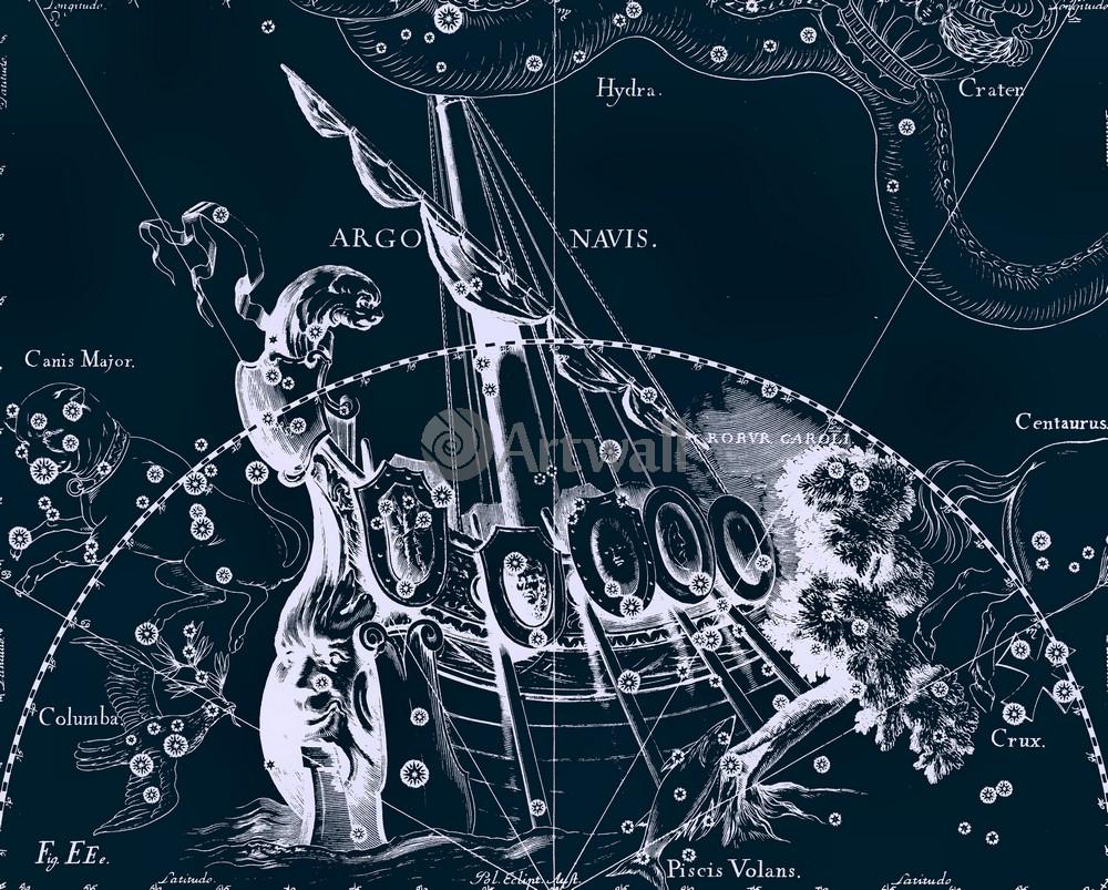"""Постер Космос """"Argo Navis - Корабль Арго"""", 25x20 см, на бумаге от Artwall"""