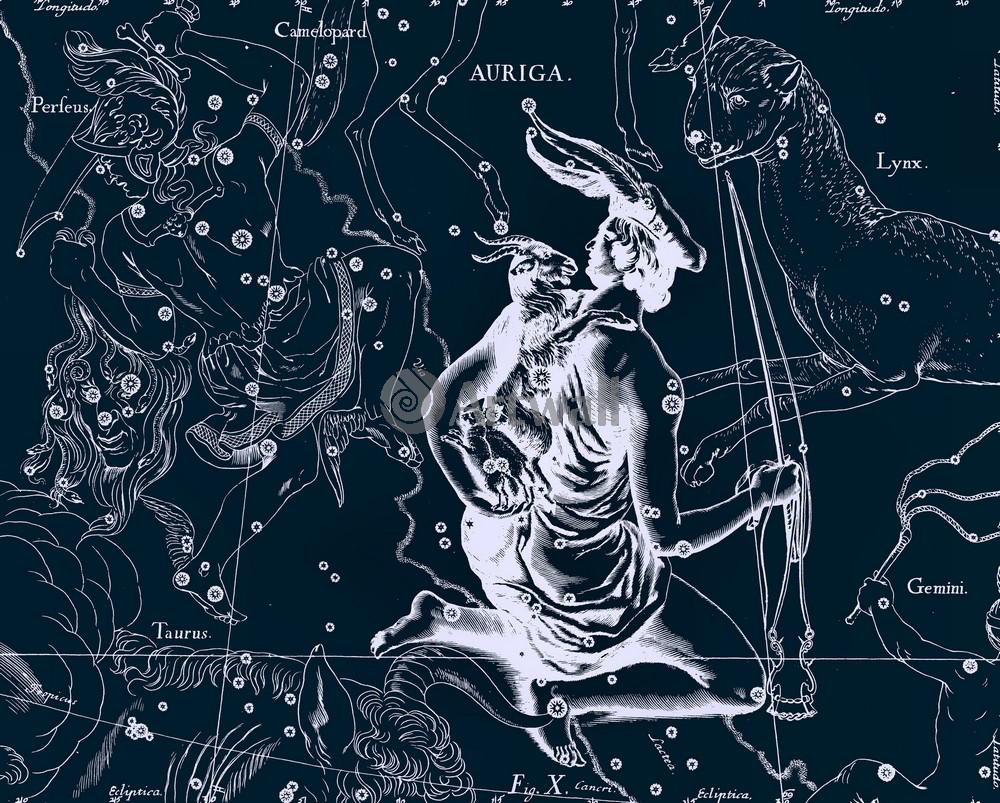 """Постер Космос """"Auriga - Возничий"""", 25x20 см, на бумаге от Artwall"""