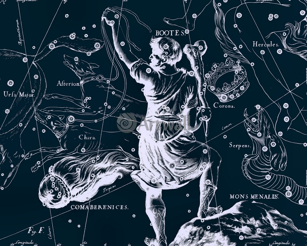 "Постер Космос ""Bootes - Волопас"", 25x20 см, на бумаге от Artwall"
