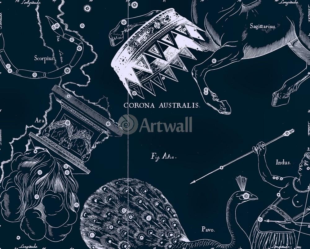 """Постер Космос """"Corona Australis - Южная Корона"""", 25x20 см, на бумаге от Artwall"""